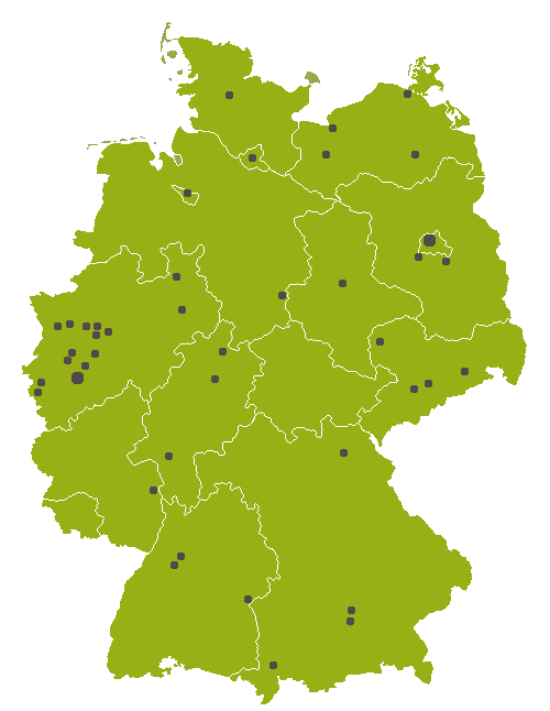 Karte unserer Standorte